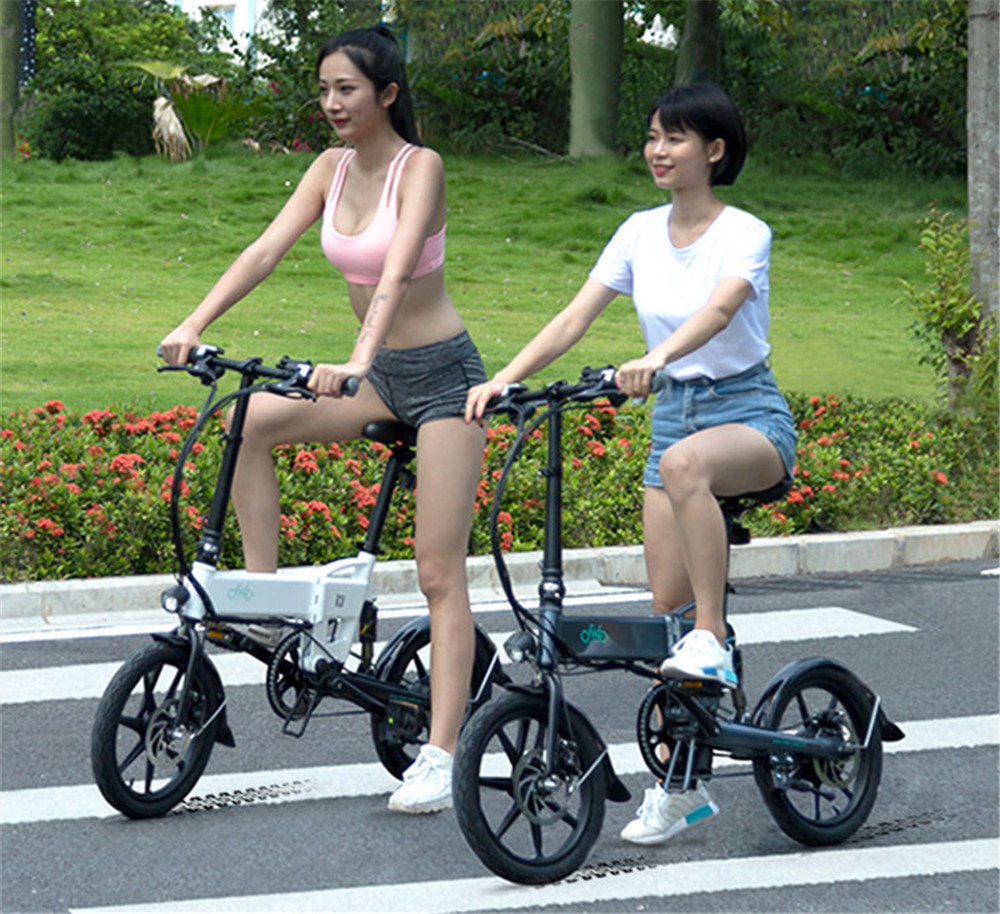 16 Inch Fiido D2 Adult Electric Bicycle 2 Wheels Electric Bicycle Mini 250W Folding Portable Electric Bike
