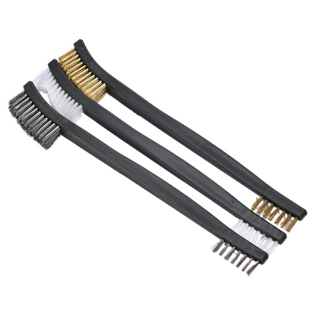 Negro//Plata//Oro Cepillo de alambre industrial de limpieza de /óxido 3PCS Cepillo de alambre de acero inoxidable Cepillo de limpieza Cepillo de accesorios para autom/óvil