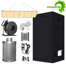 Combo CARBON-FILTER-COMBO Complete-Kit Grow-Light Indoor Hydroponic LED Full-Spectrum