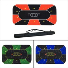 Poker-Table-Mat Gaming Board-Game Casino Texas-Hold'em Rubber-Pad Betting-Mat Dice Roulette