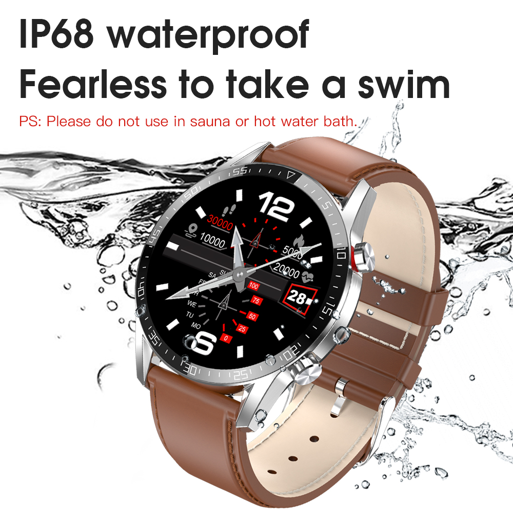New L13 Smart Watch Men IP68 Waterproof ECG PPG Bluetooth Call Blood Pressure Heart Rate Fitness Tracker Sports Smartwatch