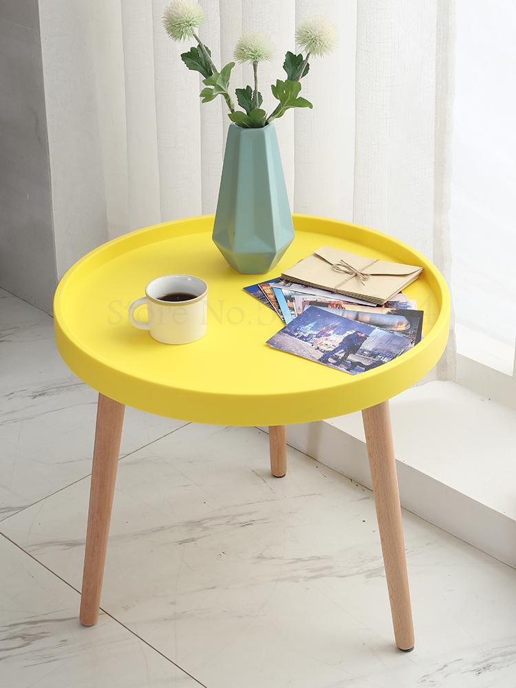 Coffee Table Simple Modern Mini Round Table Side Sofa Side Cabinet Corner Bedside Table Simple Nordic Ins Wind