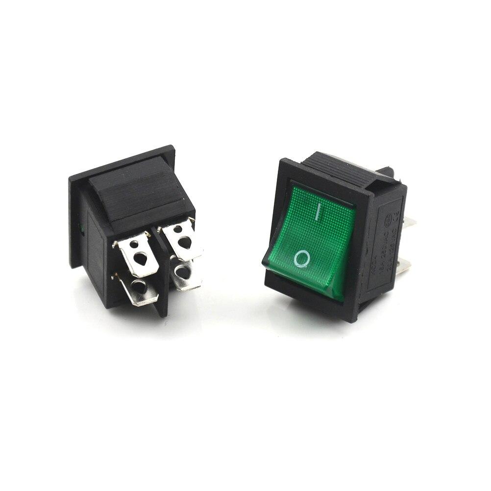 KCD4 AC 250V 10A 125V 20A 4 Pin on//off DPST Barco Interruptor basculante 8pcs