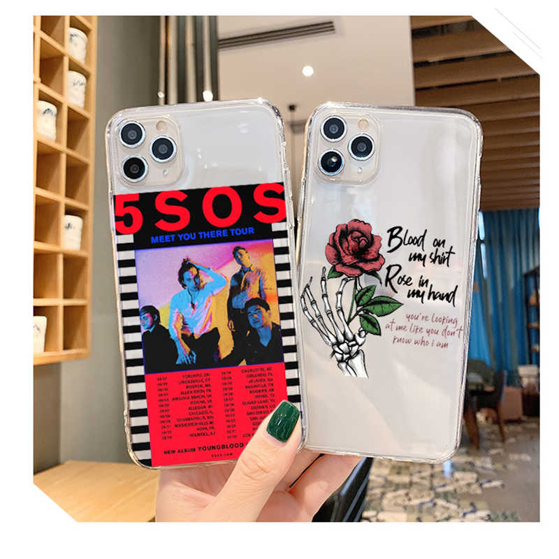 5Sos band YOUNGBLOOD 5 Seconds of Summer TPU чехол для телефона чехол для iPhone 5 5S 6 7 8 Plus 11 Pro X XS MAX XR Fundas Coque