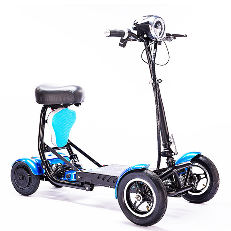 Daibot Electric Elderly Scooter 4 Wheels Electric Scooters 10 Inch 500W Foldable Electric Scooter For Disabled BlueBlackRed (50)