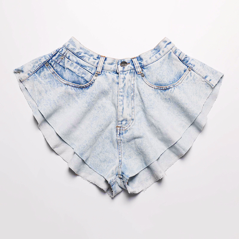 TWOTWINSTYLE Wide Leg Denim Shorts Women High Waist Sexy Mini Shorts Feamale Casual Clothes Korean 2020 Summer Fashion Plus Size