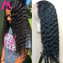Wig Brazilian Human-Hair-Wigs Curly Lace-Front 250-Density Pre-Plucked Black Women