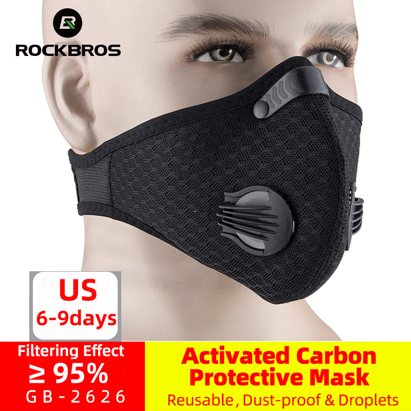 ROCKBROS Cycling-Mask FILTER Dust-Mask Protective-Face-Mask Bike Breathing-Valve Active title=