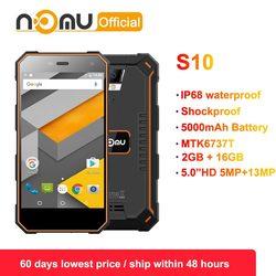 Оригинальный ному S10, 2 Гб оперативной памяти, 16 Гб встроенной памяти, 4G IP68 Android 6,0 8.0MP Dual SIM мобильный телефон 5,0