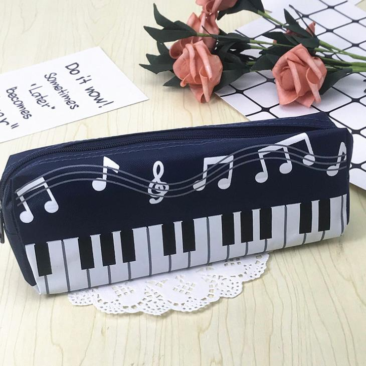 1 Pcs Creative Music Notes Piano Keyboard Pencil Case Large Capacity Pencil Bags Stationery Office School Students Prizes Gift