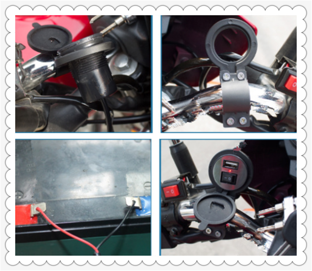Motorcycle modified USB mobile phone charger with switch waterproof for HONDA CB919 CBR 600 F2 F3 F4 F4i CBR900RR NC700 S X