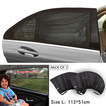 2pcs Car-styling Sunshade Car with Sun Block Window Screens Screen Shade Net Side Shield Sunscreen Sandbags(China)