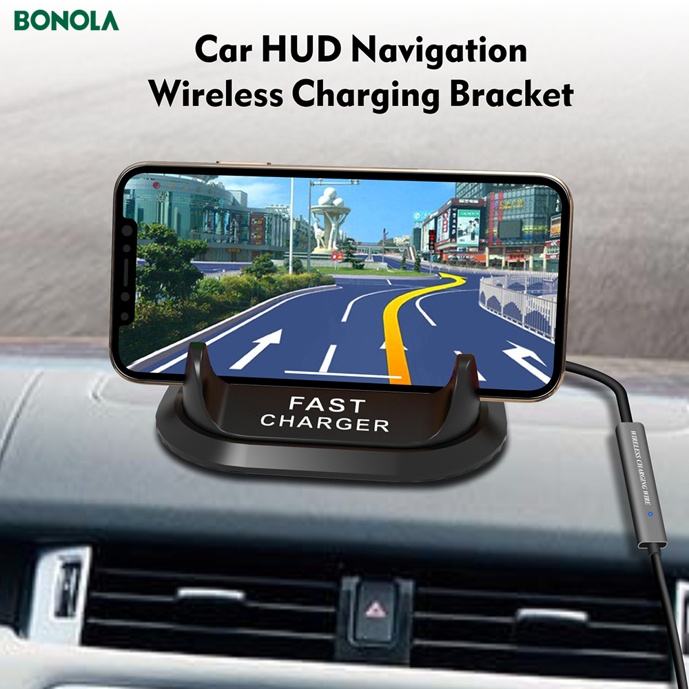 Bonola Fast Wireless Car Charger For iPhone11proXs Coil And PBC Motherboard Separate 10W Qi Car Phone Holder Wireless Charger  (1)