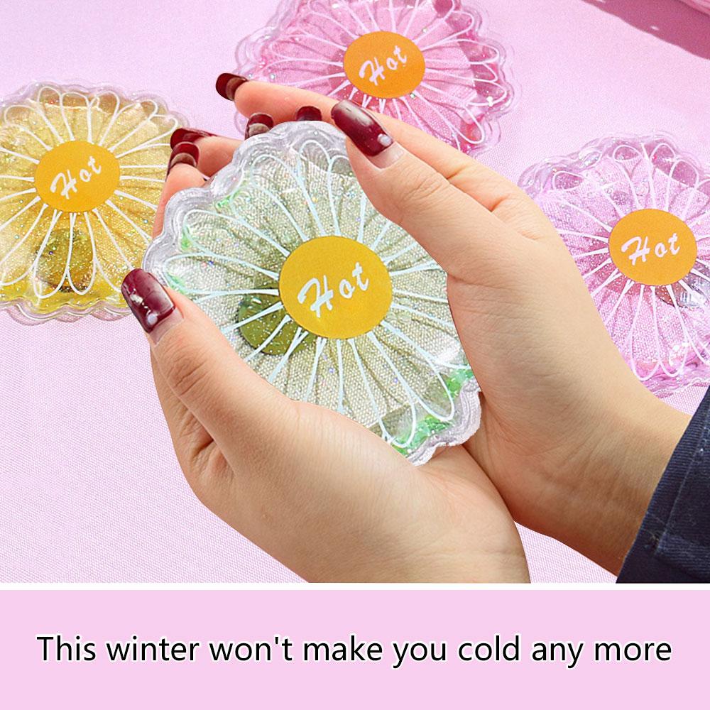 Xuebai Winter Reutilizable Mini Redondo Calentador de Cuerpo de Mano Patr/ón de Dibujos Animados Gel L/íquido Paquete de Calor Paquete de Calentador de Manos 1#