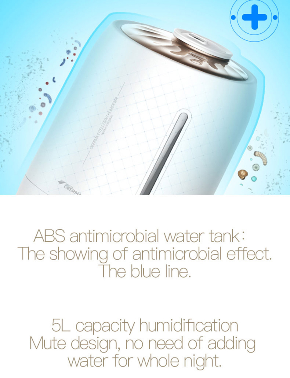 Xiaomi Mijia deerma 5L Air Home Ultrasonic Humidifier Touch Version Air Purifying for Air-conditioned rooms Office household D5 (13)