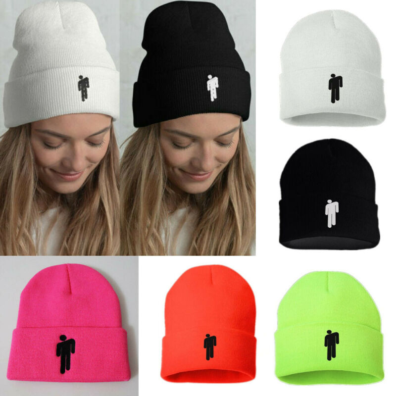 5 COLOR Billie Eilish Women Men Unisex Beanie Stickman Knit Cap Hat Bonnet title=