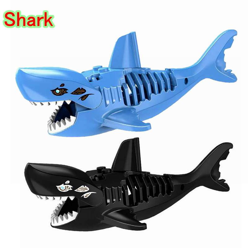 PG1042 Single Sale Block Pirates of the Caribbean Action Figures Shark DIY Building Block Toys For Kids Pirates of the Caribbean