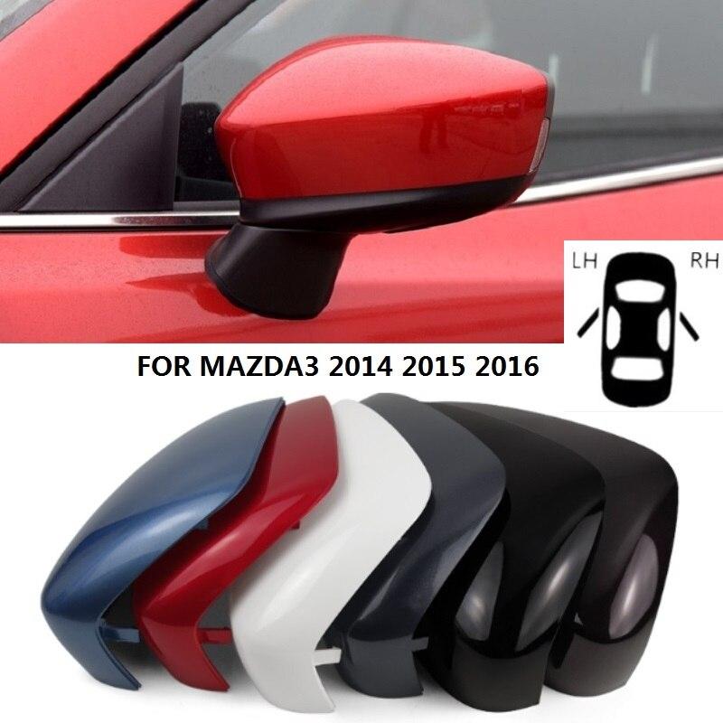 Para Mazda 3 2009-2013 Cubierta del Espejo de puerta izquierda imprimado