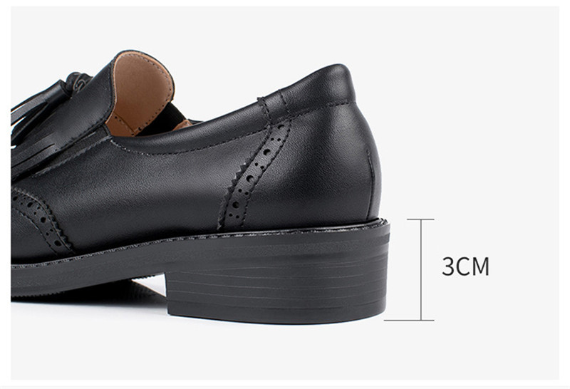 New British Carved Oxford Shoes For Woman Korean College Slip On Student Flats Brogues Shoes Retro Tassel Casual Women's Loafers (9)