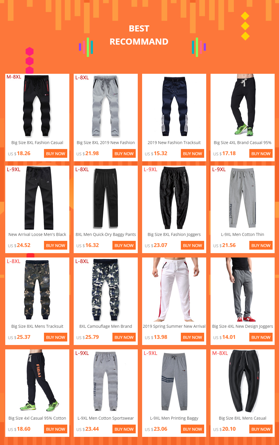 5XL Gym Baggy Training Mens Fleece Joggers Jogging Bottoms Trousers Sizes S