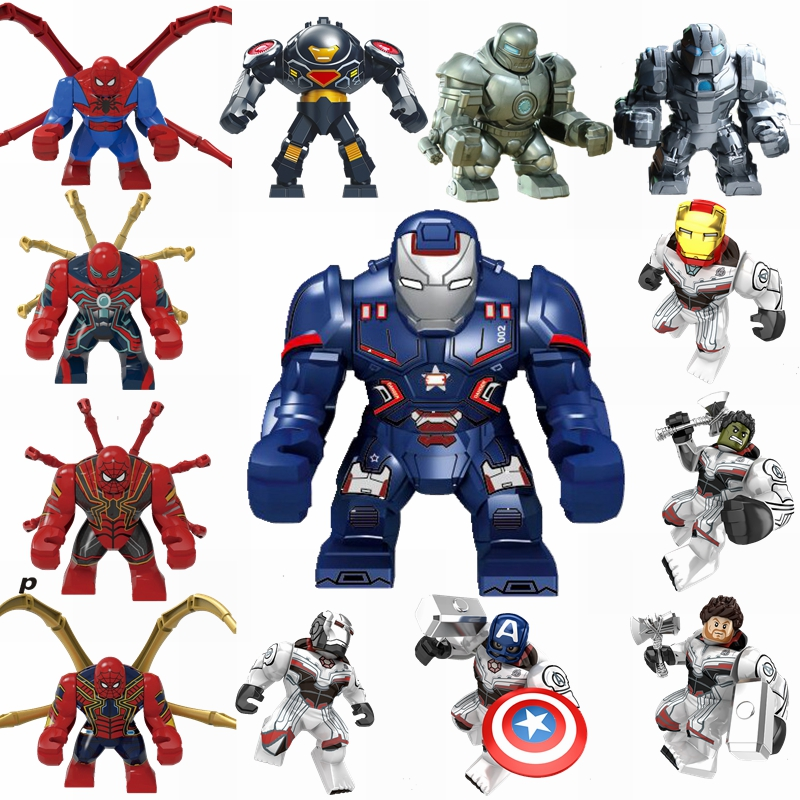 Marvel Avengers Iron Man Spider-Man Raytheon Thanos Hulk Building Blocks Toys Compatible Marvels Avengers Superhero Kids   Gifts