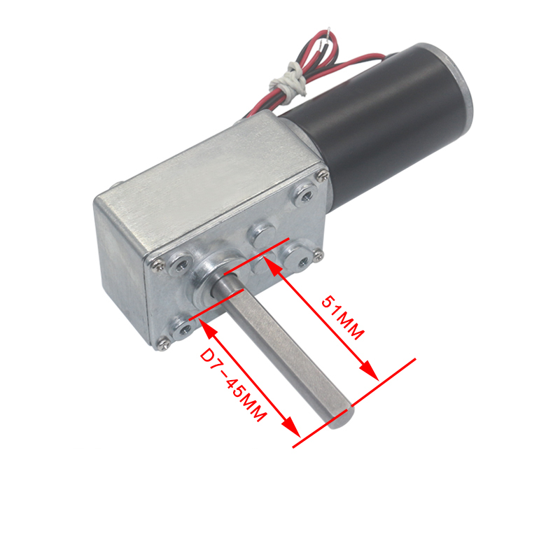 12V 470RPM High torque Turbo worm Geared motor DC motor for Curtains