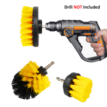Drill-Brush-Kit Carpet-Glass Electric-Scrubber-Brush Cleaning-Brush Car-Tires Round Plastic