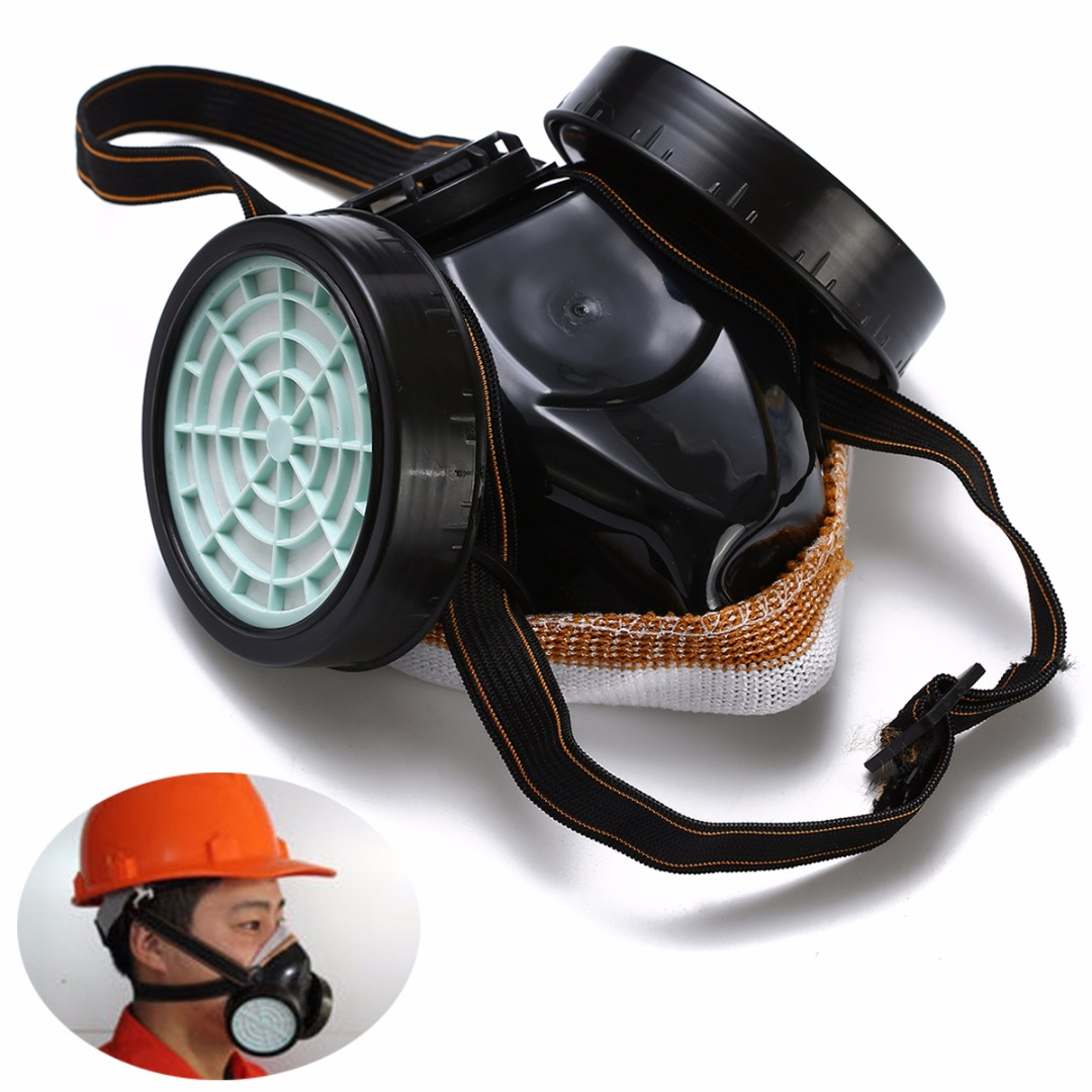 Adjustable Strap Chemical Black Gas Mask Emergency Survival Safety Respiratory Gas Mask Anti Dust Paint Respirator Face Mask
