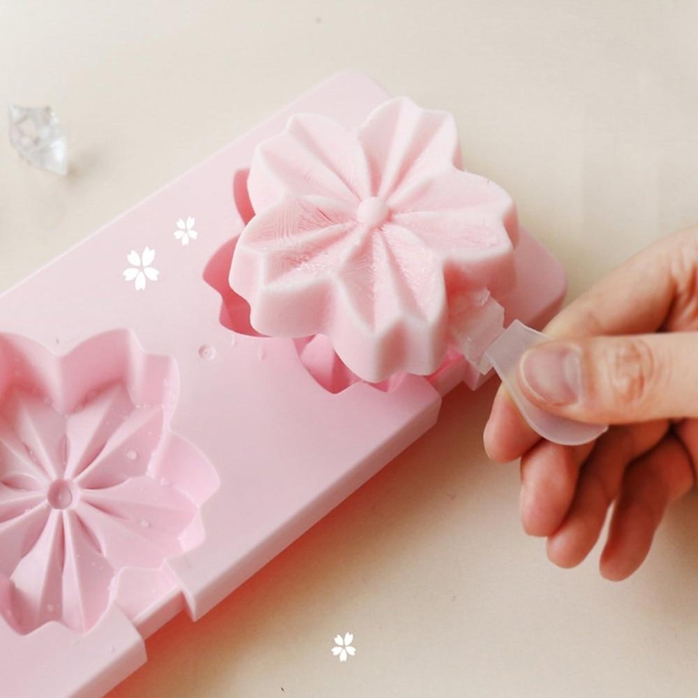 Homemade popsicle ice cream mold DIY refrigerator ice cream box Sakura mold popsicle box Summer Hot Drop Shipping