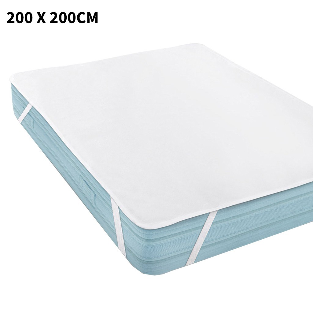 Terry Cloth Waterproof Bed Sheet For Mattress Pad & Topper With Band Bed Protector Waterproof Mattress Protector 200 x 200 cm