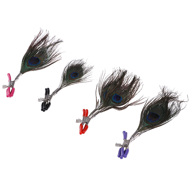 1pair Feather Nipple Clamps Breast Adult Sex Toys For Men Female Nipples Clips Sexy Fetish Accessories