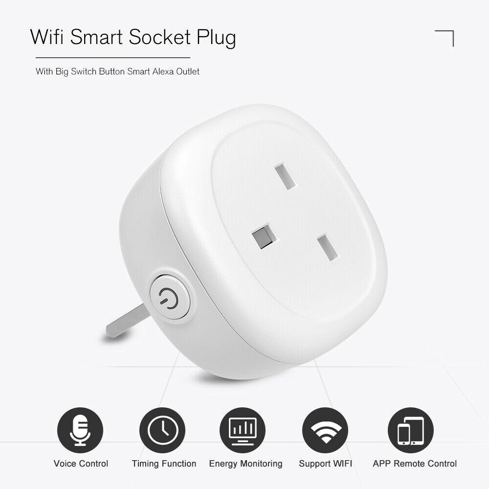 WiFi Wireless Smart Timer Switch Power Plug Socket APP Remote Control USB Home