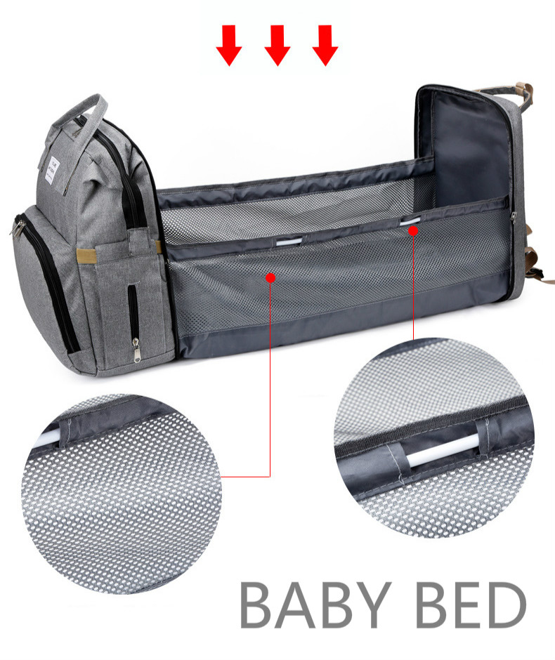 Travel Diaper Changing Backpack with Bed 6