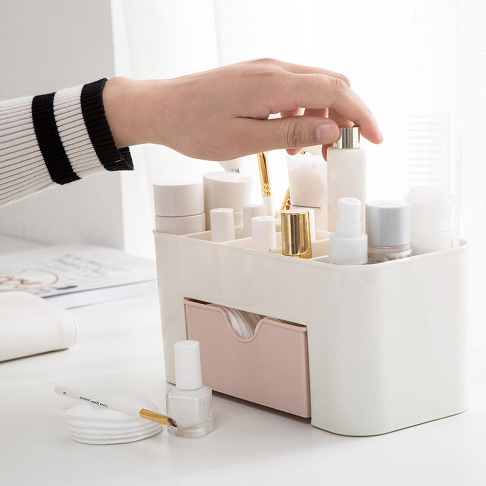 Drawer-Type-Box Storage-Accessories Cosmetics Makeup-Storage Plastic Desktop for Home title=