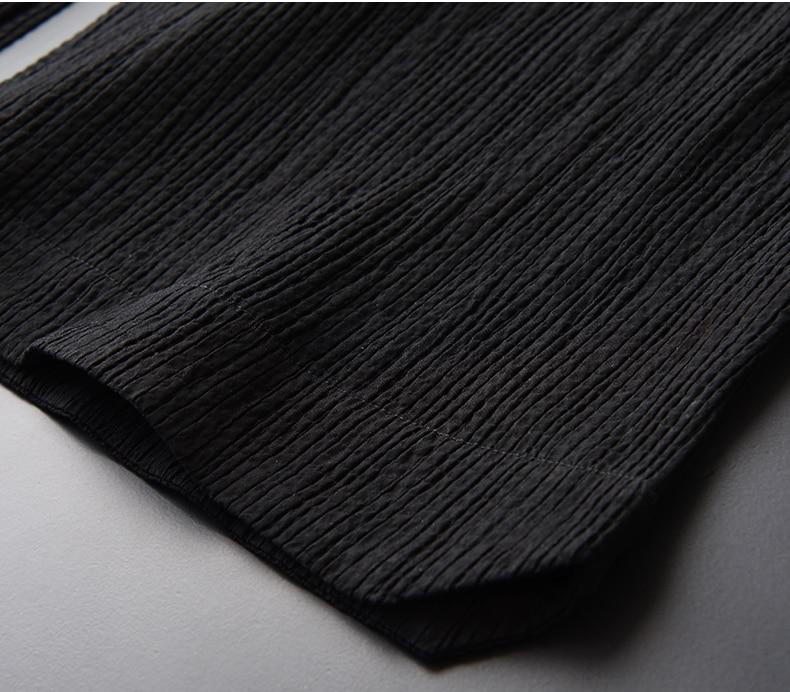 New Brand Dark Fringe Wrinkle Fabric Short Sleeve Men/'s Hoodies Hight Quality Thin Zipper Men/'s Hooded Jacket Plus Size 4XL