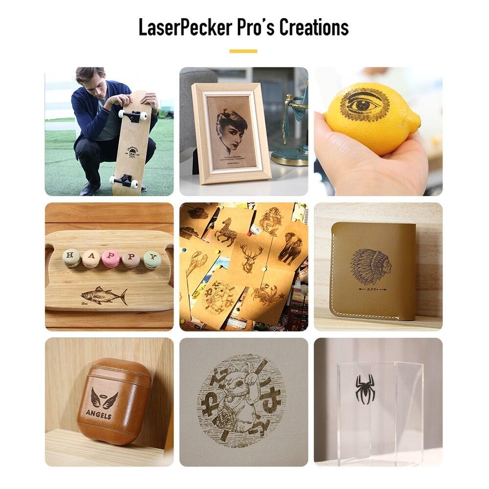 con logo design artistico 1,6 W compatta LaserPecker per fai da te colore: oro Stampante per incisore laser per incisioni laser da tavolo per incidere laser