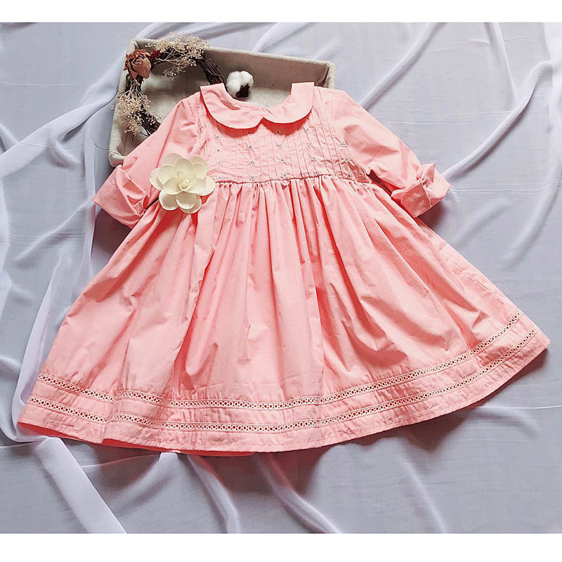 Baby girls spanish//traditional style smocked dress in pink 2 years.