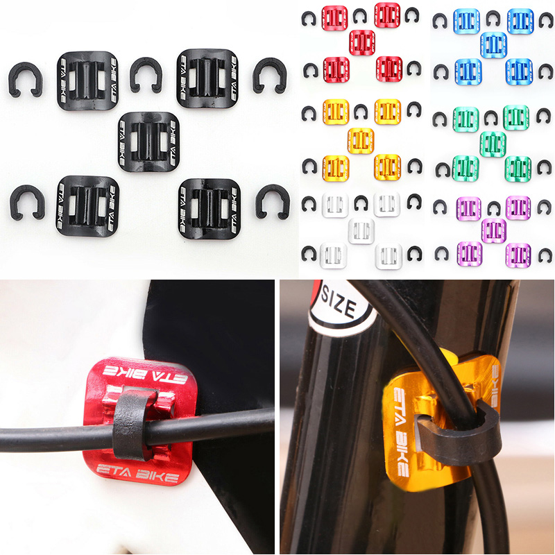 5pcs Bicycle Brake Cable Attachment Spare Tubing Clamp C Shape Cord Holder Parts