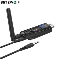 BlitzWolf BW-BR1 Pro Portable bluetooth V5.0 USB Wireless Audio & Video Receiver Transmitter 2 in 1 Adapter for PC TV Labtop Tra