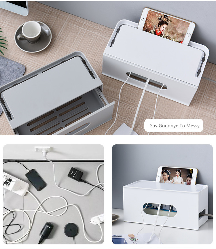 Double Layers Drawer Type WIFI Router Storage Box 73
