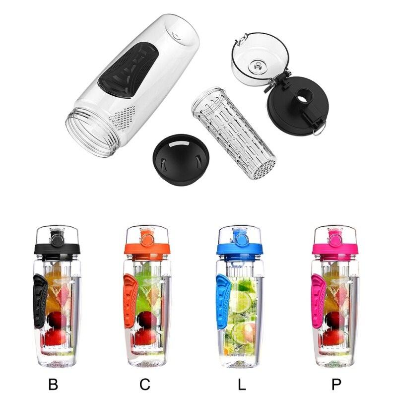 Portable Eau Sports Bouteille de lait avec rangement Sakura et Fraise Imprimé