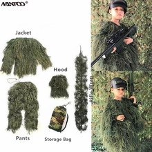 Ghillie-Suit Grass Camouflagetactical-Suit Pants Jacket Hoody Sniper-Set Rifle-Jungle