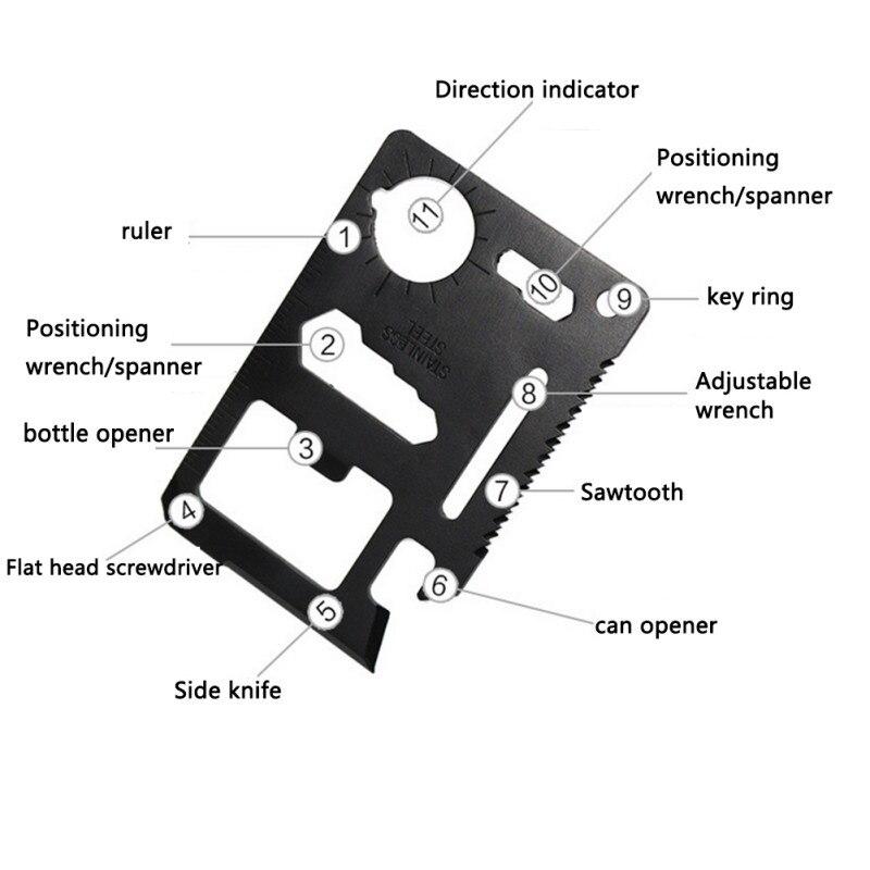 Outdoor Self Survival EDC Stainless Steel Emergency MultifunctionTool Opener HC