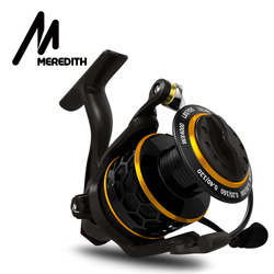 MEREDITH DAFNE KEEN Spinning Reel Triple Disc Carbon Drag 5,2: 1 2000 3000 4000 12KG Max Drag Power Angeln Reel Bass Angeln