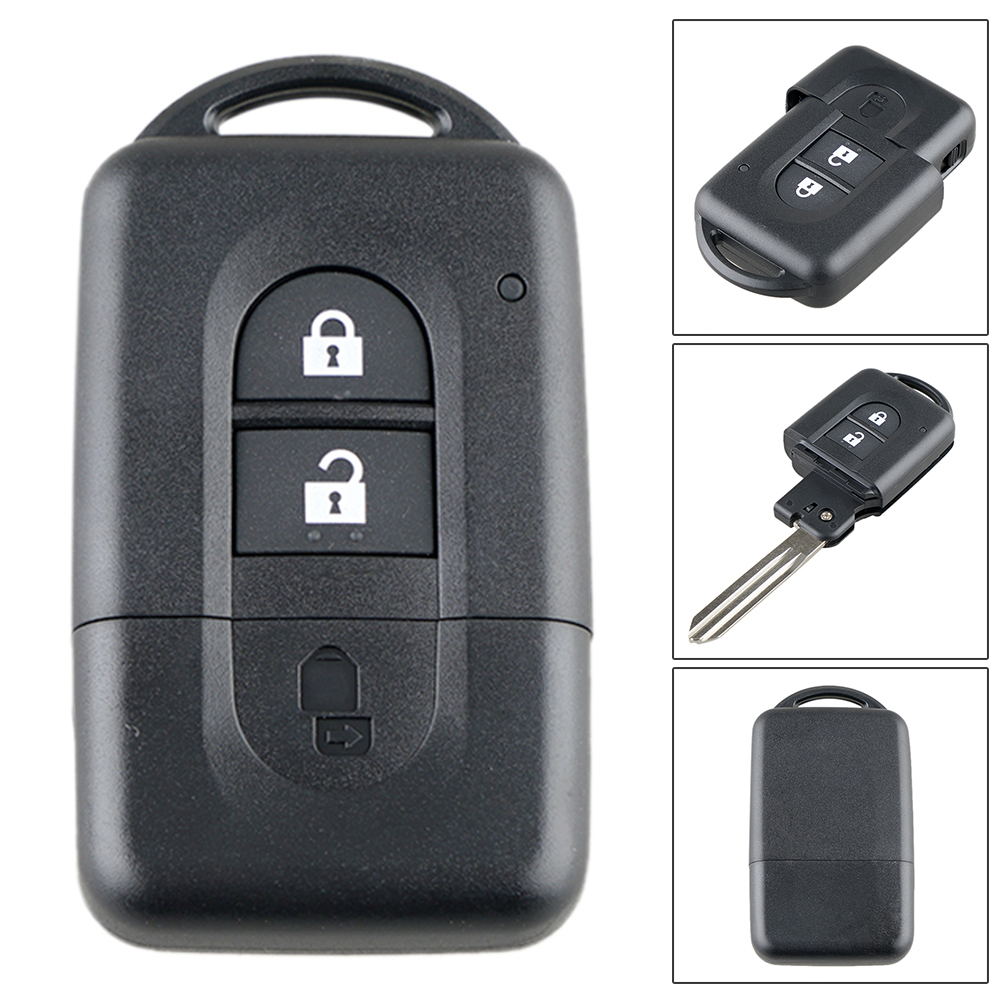 Shell-Case-Holder Car-Key Sunny 2button JUKE Remote Qashqai Nissan Micra 3-Button-Replacement title=
