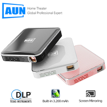 AUN MINI Projector X3, Built in Multimedia system Video Beamer, Support Mobile Phone