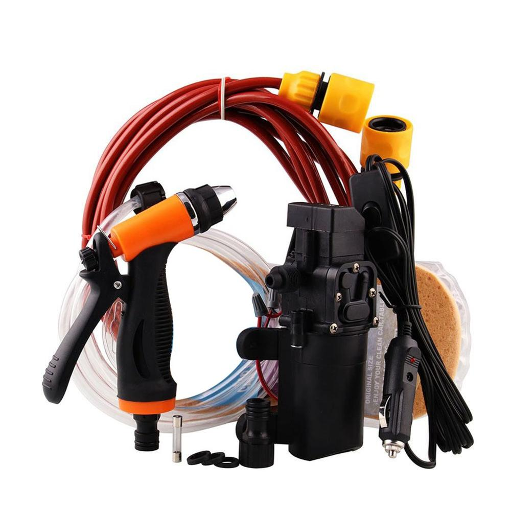 Portable Car Wash High Pressure Water Spray Gun Electric Water Pump Kit title=