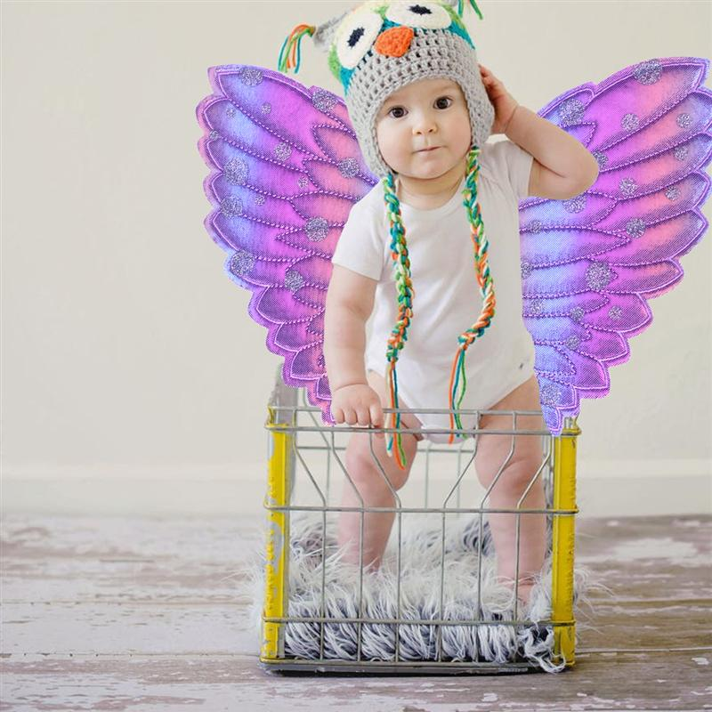 Baywell D/éguisement de F/ée Papillon Aile de F/ée Baguette Magique et Tutu Jupe 4 Pi/èces Costume dhalloween de No/ël Enfants