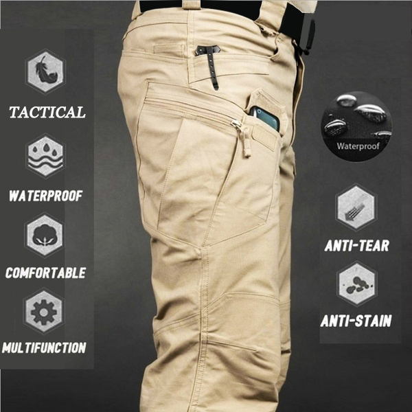 Sweat-Pants Outdoor-Trousers Multi-Pockets Military Hiking Tactical Waterproof Men Fashion title=