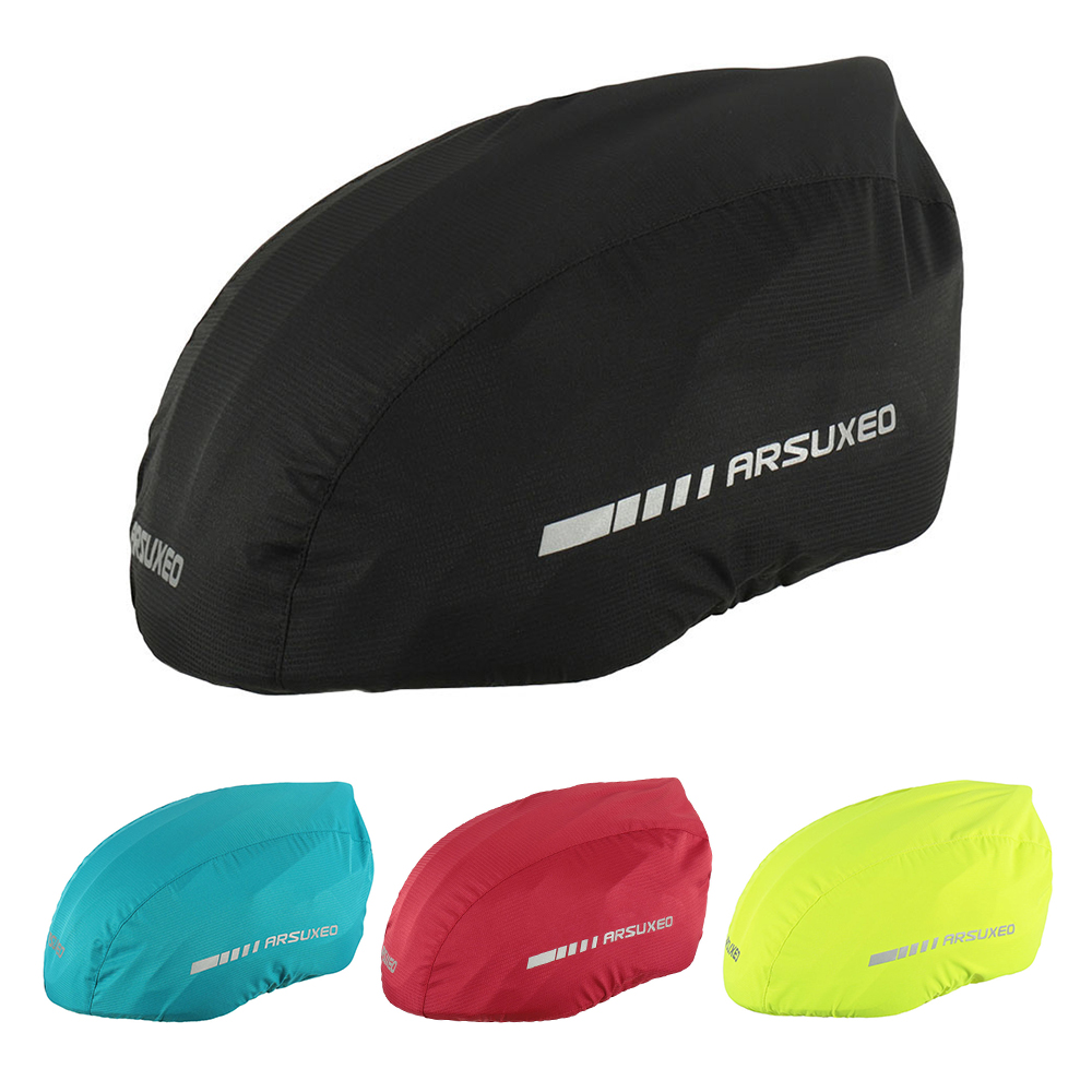 Bike Helmet Rain-Cover Cycling-Bicycle Waterproof with Reflective-Strip title=